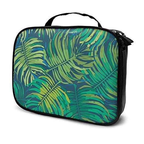 Make-up-Tasche mit tropischem Blumenmuster, großes Fassungsvermögen, tragbar, herausnehmbare Trennwände, Aufbewahrung, Mehrzweck-Tasche, Geschenk für Mädchen und Frauen