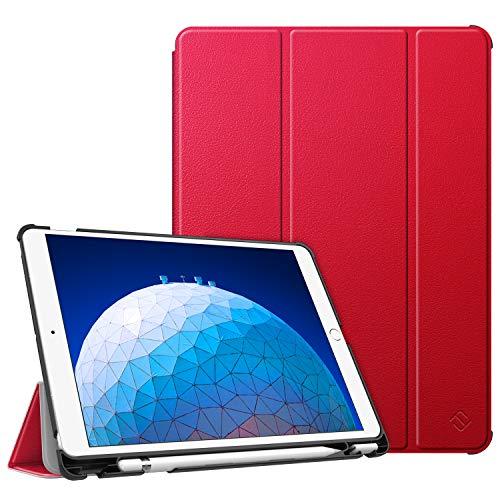 """Fintie Funda para iPad Air 10.5"""" (3.ª Gen) 2019/iPad Pro 10.5"""" 2017 con Soporte Incorporado para Pencil - Súper Ligera Carcasa Protectora con Función de Auto-Reposo/Activación, Rojo"""