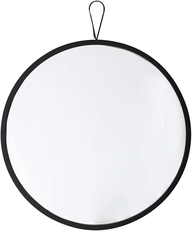 40cm Diameter Round Bathroom Mirror for Entrance Passage, Washroom, Living Room, Etc. - Wall-Mounted Mirror(Black)