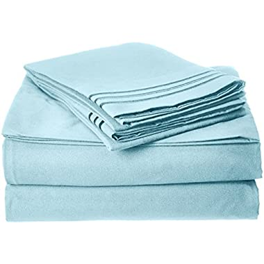 Elegant Comfort Best Seller Luxurious Bed Sheets Set on Amazon 1500 Thread Count Wrinkle,Fade and Stain Resistant 4-Piece Bed Sheet set, Deep Pocket, HypoAllergenic - Queen Aqua Blue