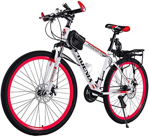 Herren Fahrräder Trekking Bicycle Cross Trekking Bikes Aluminum Frame Bicycle Fork Suspension with Variable Speed Bicycle-26 Zoll / 21 Geschwindigkeit_D.