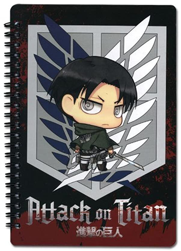 Notebook - Attack on Titan - New SD Levi Scout Regiment Anime Toys ge43168