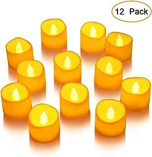 Litake LED キャンドル キャンドルライト 12個セット 電池ろうそく 無香料 ティーライト 揺らぐ炎 波形の口 暖白 ウォームホワイト クリスマス/パーティー/結婚式/部屋 装飾用 雰囲気作り 安全 環境に優しい
