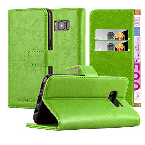 Cadorabo Funda Libro para Samsung Galaxy S8 Plus en Verde Hierba - Cubierta Proteccíon con Cierre Magnético, Tarjetero y Función de Suporte - Etui Case Cover Carcasa