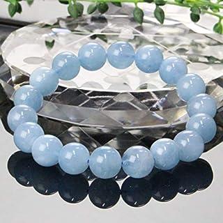 【一点物 10mm玉】 アクアマリン ブレスレット Bracelet ブレスレット Bangle 腕輪 ブレス Aquamarine ミルキーアクア メンズ レディース 一点物 天然石 パワーストーン a19573