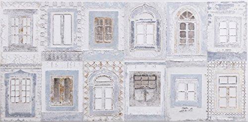 Burkina Home Decor Arts gevelverf, hout, meerkleurig, 3 x 120 x 60 cm