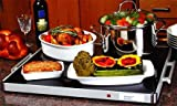 Deluxe Glass Buffet Warming Tray Full size 24' x 20 ' by Classic Kitchen