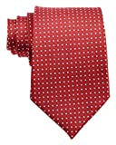 New Classic Solid Checks Paisley JACQUARD WOVEN Silk Men's Tie Necktie (Woven Red)
