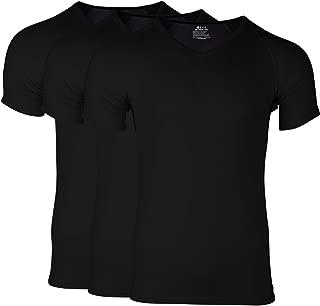 Ejis Men's Undershirts, 3 Pack: Anti Odor V Neck T Shirts, Micro Modal
