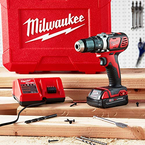MILWAUKEE'S 2606-22CT M18 Cordless Drill/Driver Kit, 18 V, Red