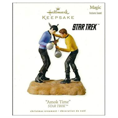 Hallmark Amok Time Star Trek 2010 Ornament