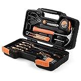 Juego de herramientas Flexzion ? Kit de herramientas de mano y accesorios para el hogar en general, reparación de hogar con caja de herramientas de ... Kit de herramientas para propietarios de casa