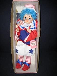 1986 Brinn's Red/White/Blue July Calendar Clown 12 Inch Doll
