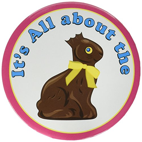 Beistle 401801-pack Chocolate Bunny Button party Favors, 3–1/5,1cm