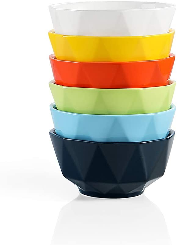 SWEEJAR Porcelain Bowls Geometric Design Nuts Portland Mall 23 for Oz Virginia Beach Mall Cereal