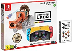 Nintendo Labo: VR Kit combines the innovative physical and digital gameplay of Nintendo Labo with basic VR technology to create a simple and shareable virtual reality experience for kids and families. Nintendo Labo: VR Kit encourages social gameplay,...