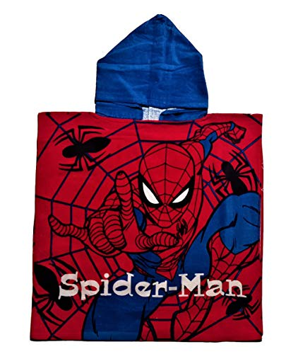 Spiderman - Gorro de baño oficial con capucha, 100% algodón. modelo 2 Talla única