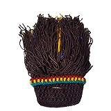 Cozyswan ニット帽アクリル頭囲約56〜62センチメートルかつらヒゲ手作り面白い滑稽イタズラクリスマスハロウィンニット秋冬服おしゃれ人気