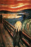 Close Up Pster Pintura de Edvard Munch - The Scream El Grito...