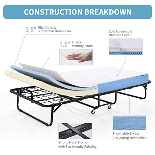Inofia Foldable Folding Bed