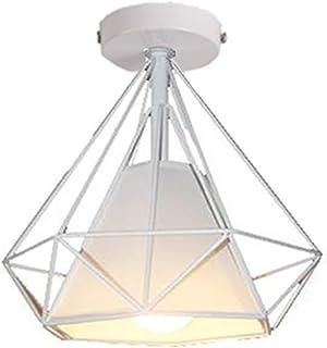 STOEX Retro Plafonnier Industrielle Cage En Forme Diamant En Métal Fer  Lustre Suspension Luminaire Pour Salon