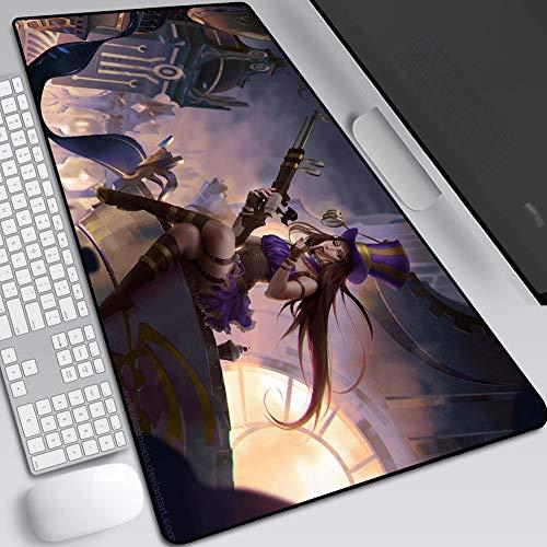 CSQHCZS-SBD Grandi Dimensioni Pad Estesa Mouse da Gioco, Altamente Sensibile Tastiera Anime Tavolo Pad Pad, Base Antiscivolo in Gomma, Posizionamento Esatto A+++++++ (Colore : J, Size : 300X800X2mm)