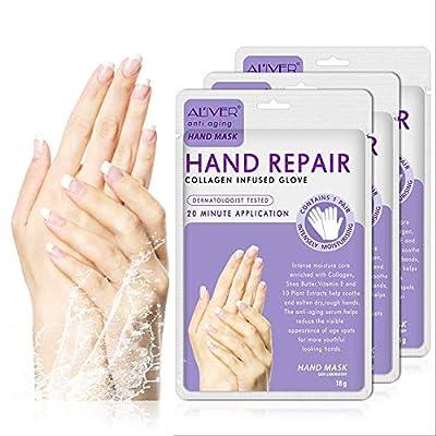 3 Paar Hände Feuchtigkeitsspendende