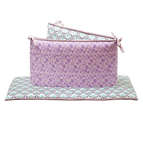Zoe Scallop, Lavender, Purple Floral Crib Bumper