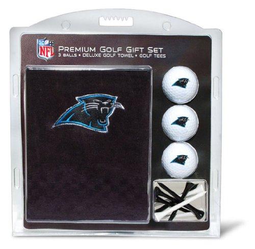 Team Golf NFL Carolina Panthers Geschenkset Besticktes Golf-Handtuch, 3 Golfbälle und 14 Golf-Tees 6,5 cm Regulierung, dreifach gefaltetes Handtuch 40,6 x 55,9 cm und 100 % Baumwolle