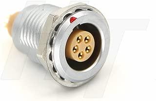 HangTon 0B Circular Push Pull Metal Connector Panel Mount Socket EGG 5 Pin Male Female Contacts (5P, SOCKET)