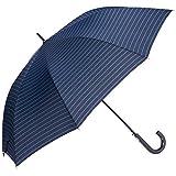 [ムーンバット] GENTS エクセルジェンツ メンズ 紳士 雨傘 長傘 ボーダー プリント ジャンプ ブラック 日本 親骨の長さ:約65㎝ 全長:約88㎝ 手元:約16.5㎝ (FREE サイズ)