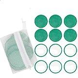 12 Piezas Reutilizables Discos Almohadillas Desmaquillantes Microfibra para Desmaquillantes,Cómodo Microfibra Paños ABSC de Limpieza Facial (Verde)