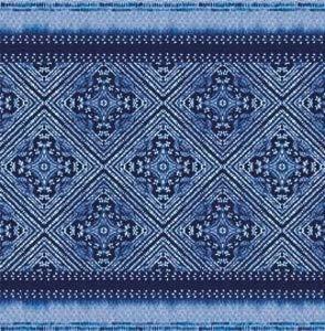 Bassetti Faraglioni V3 Kissenhülle, Baumwolle, Blau, 40x40 cm