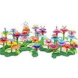 AmaMary Juguetes de construcción de jardín de Flores,Juguetes educativos creativos 148 PCS Flower Garden Building Toys de jardín para niños Regalo de cumpleaños