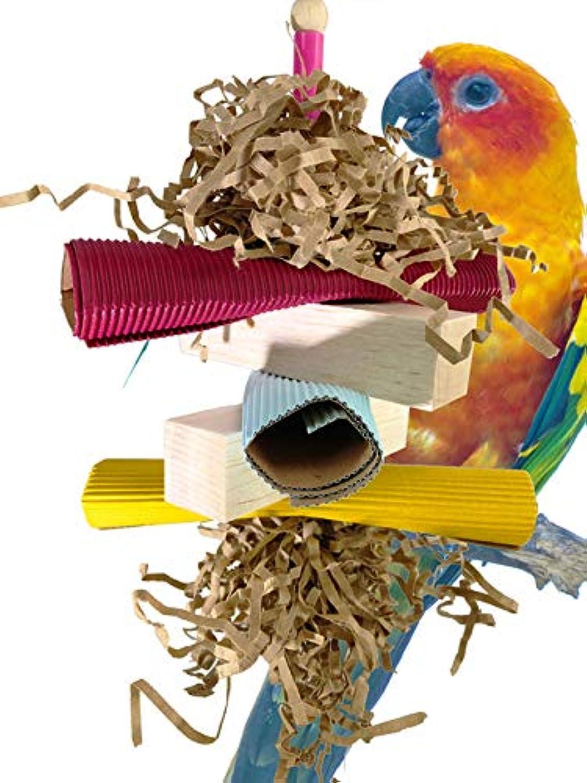 Bonka Bird Toys 1822 Balsa Stack Parred cage Toy African Grey Cockatoo Amazon