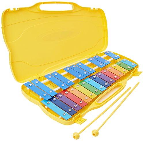 Glockenspiel 25 Notes (SOL5-SOL7) avec touches Multicolore. Performance Percussion PP25CK