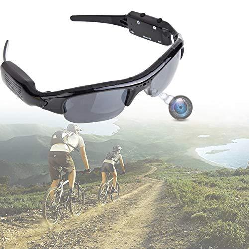 HIMAPETTR 1080P HD Espia Camara Gafas, Minicámara De Vigilancia Oculta, 5 Megapíxeles, Alta Resolución, Audio Gafas Cámara Dvr Disparo, Videocámara Dv para Deportes Y Espionaje(32GB)