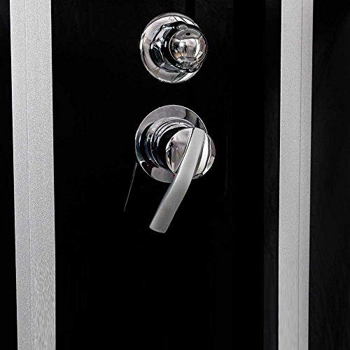 TroniTechnik Dampfdusche Duschtempel Whirlpool Badewanne Komplettdusche Duschkabine Dusche 170×90 schwarz - 5