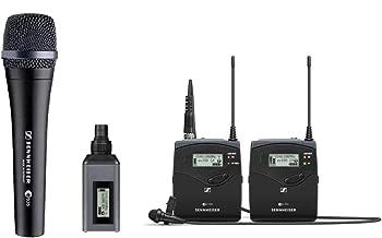 Sennheiser EW100 ENG G4-A Wireless System with EK 100 G4 Diversity Receiver, Frequency Band A with a Sennheiser E-935 Microphone