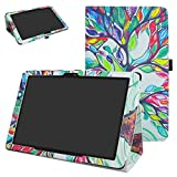 AT&T Primetime Case,ZTE K92 Case,Mama Mouth PU Leather Folio 2-Folding Stand Cover with Stylus Holder for 10' ATT Primetime/ZTE K92 Primetime Tablet,Love Tree