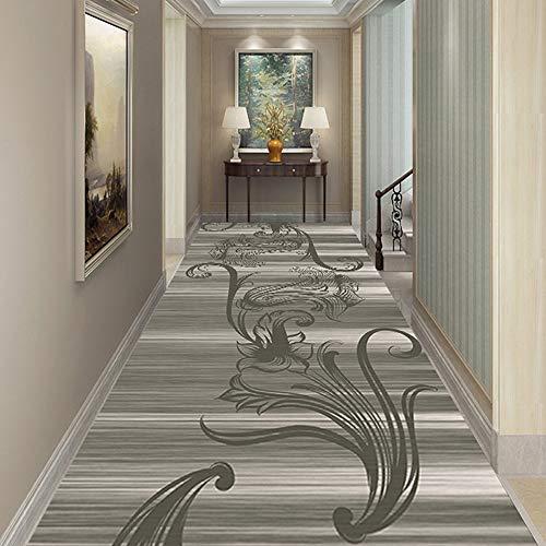 Europese eenvoudig te reinigen Balkon Tapijten Fluffy Vloer Vloerbedekking voor de woonkamer Modern Wind Hallway Rugs Printed Pluche Indoor Deken (100 x 100 cm)