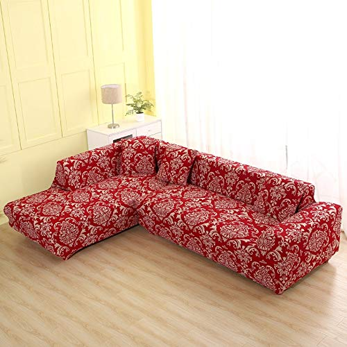 PPOS Covers for Shaped Sofa Living Room Corner Sofa Covers Sectional Couch Slipcover Stretch Elastic Home Textile A6 1seat 90-140cm-1pc