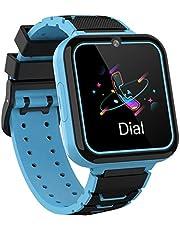 Smooce Smartwatch Kids, Smartwatch kind telefoon met 1,54 inch touchscreen, MP3-muziek, SOS-oproep, Game, Camera, Zaklamp, Alarm, Horlogegift 【Inclusief SD-kaart van 1 GB】