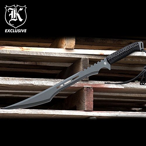 "27"" Full Tang Black Blade Fantasy Ninja Sword w/ Sheath"