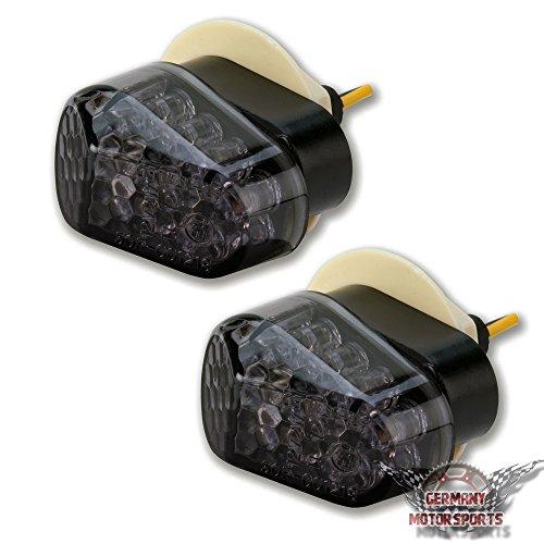 LED Mini Verkleidungsblinker Yamaha YZF R6 09-16 RJ05 RJ09 RJ11 Smoke Schwarz getönt