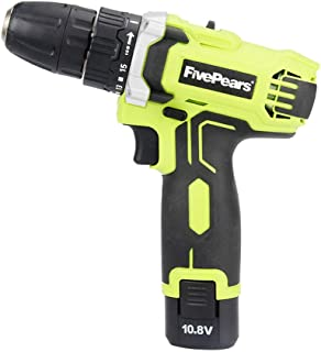 FIVEPEARS 10.8-Volt DC Lithium-Ion Battery 10mm 2-Speed Electric Cordless Drill/Driver Mini Screwdriver Wireless Power Driver