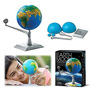 Study like a real astronomer and build and paint your very own 3D earth and moon model for display in your science room, or living room, or bedroom. Turn out the lights to watch this cool science craft glow in the dark. Find out all the scientific fu...