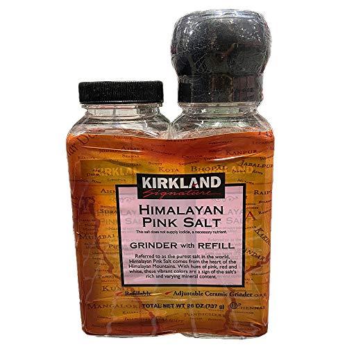 KIRKLAND SIGNATURE カークランドシグネチャー ヒマラヤピンク岩塩 368.5g(ミル付+詰め替え)合計2本セット