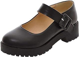 Vitalo Womens Low Block Heel Mary Jane Shoes School Uniform Dress Shoes