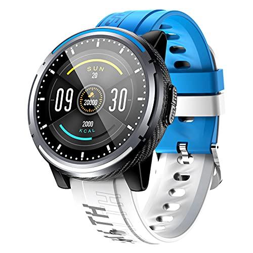 Rvlaugoaa Llamada Bluetooth Smartwatch Recordatorio de Mensajes de música Modo Deportivo múltiple Rastreador de Ejercicios Pulsera Deportiva Reloj de Ejercicios para teléfonos iPhone/Android